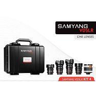 Samyang VDSLR Kit 4 = 14mm T3.1 + 24mm T1.5 + 35mm T1.5 + 85mm T1.5 + 500mm F6.3mm + kofer za objektive za Sony