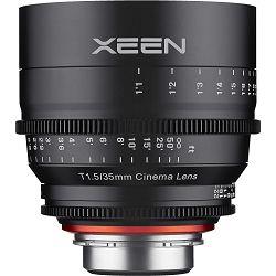 Samyang XEEN 35mm T1.5 Cine Lens PL mount VDSLR Cinema video filmski širokokutni objektiv