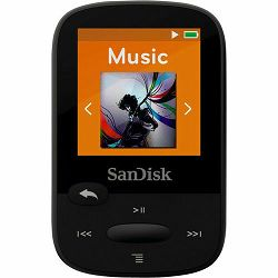 SanDisk 16GB Black Clip Sport Plus Global MP3 player (SDMX28-016G-G46K)