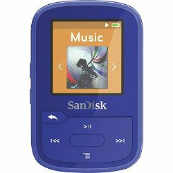 SanDisk 16GB Blue Clip Sport Plus Global MP3 player (SDMX28-016G-G46B)