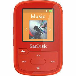 SanDisk 16GB Red Clip Sport Plus Global MP3 player (SDMX28-016G-G46R)