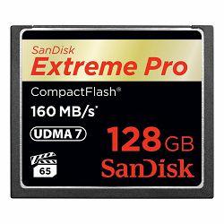 SanDisk CF 128GB 160MB/s Extreme Pro VPG 65 UDMA 7 memorijska kartica (SDCFXPS-128G-X46)