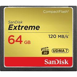 SanDisk CF 64GB 120MB/s 85MB/s write Extreme UDMA7 memorijska kartica (SDCFXSB-064G-G46)