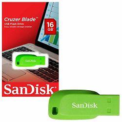 SanDisk Cruzer Blade 16GB Electric Green USB memorija (SDCZ50C-016G-B35GE)