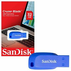 SanDisk Cruzer Blade 32GB Electric Blue USB memorija (SDCZ50C-032G-B35BE)