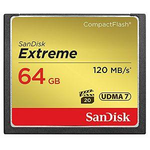 SanDisk Extreme CF 64GB 120MB/s 85MB/s write UDMA7 SDCFXSB-064G-G46 Compact Flash Memorijska kartica