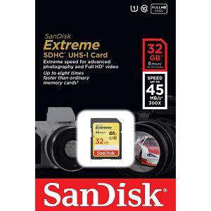 SanDisk Extreme SDHC Card 32GB 45MB/s SDSDX-032G-X46 memorijska kartica