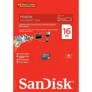 SanDisk microSDHC 16GB Class 4 Speed 4MB/s Card Only SDSDQM-016G-B35 memorijska kartica