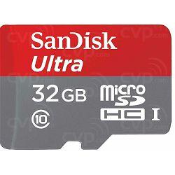 SanDisk microSDHC 32GB + SD Adapter 98MB/s A1 Class 10 UHS-I Imaging Packaging Ultra memorijska kartica (SDSQUAR-032G-GN6IA)