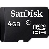 SanDisk microSDHC 4GB Class 4 Speed 4MB/s Card + SD Adapter SDSDQM-004G-B35A memorijska kartica