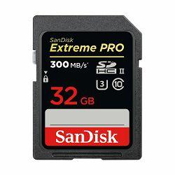 SanDisk SDHC 32GB 300MB/s Extreme Pro UHS-II memorijska kartica (SDSDXPK-032G-GN4IN)
