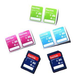 SanDisk SDHC 4GB 15MB/s Class 4 Speed 2-Pack with labels  SDSDB2L-004G-B35 memorijska kartica