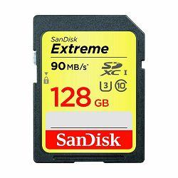 SanDisk SDXC 128GB 90MB/s Extreme Card V30 UHS-I U3 memorijska kartica (SDSDXVF-128G-GNCIN)