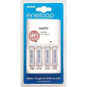 Sanyo Eneloop MQN04-E-4-4UTG punjač + 4xAAA punjive baterije ready to use