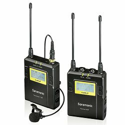 Saramonic UwMic9 (TX9 + RX9) UHF Wireless Lavalier Microphone Kit (1x transmitter TX9 + 1x receiver RX9 + 1x lavalier) UwMic9-KIT-TX9-RX9