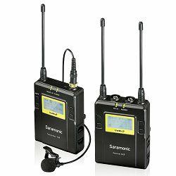Saramonic UwMic9 (TX9 + RX9) UHF Wireless Microphone Kit (1x transmitter TX9 + 1x receiver RX9 + 1x lavalier microphone)