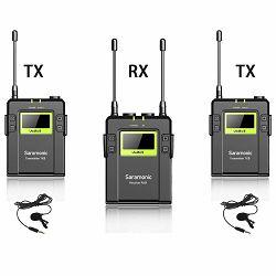 Saramonic UwMic9 (TX9 + TX9 + RX9) UHF Wireless Microphone Kit (2x transmitters TX9 + 1x receiver RX9 + 2x lavalier microphones)