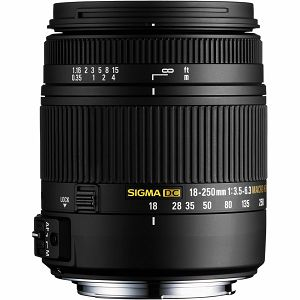 Sigma 18-250/3.5-6.3 DC OS HSM Sony allround objektiv 18-250mm F3.5-5.6