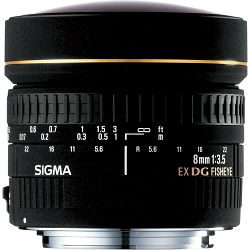 Sigma 8mm f/3.5 EX DG Cirkular Fisheye objektiv za Canon 8/3,5 8mm/3,5 F3.5 fish-eye lens