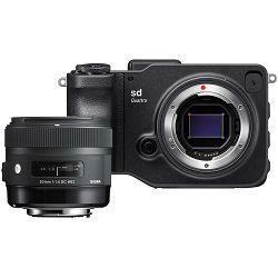 Sigma SD Quattro + 30mm f/1.4 DC HSM Mirrorless Digital Camera fotoaparat (ZL900)