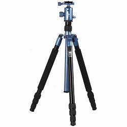 Sirui T-004X tripod blue 147,3cm Alu with head C-10X aluminijski stativ stalak i kuglasta glava za fotoaparat Aluminum Tripod with Ball Head