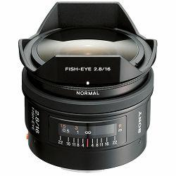 Sony A 16mm f/2.8 Fisheye GDDR širokokutni objektiv za A-mount 16 F2.8 2.8 f/2,8 Fish-eye riblje oko SAL-16F28 SAL16F28 (SAL16F28.AE)