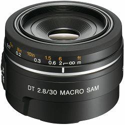Sony A DT 30mm f/2.8 SAM Macro širokokutni objektiv za A-mount 30 F2.8 2.8 f/2,8 SAL-30M28 SAL30M28 (SAL30M28.AE)