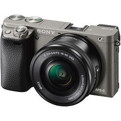 Sony Alpha a6000 + 16-50 f/3.5-5.6 KIT Grey Mirrorless Digital Camera crni bezrcalni digitalni fotoaparat i standardni zoom objektiv SEL1650 16-50mm f3.5-5.6 ILCE-6000LH ILCE6000LH (ILCE6000LH.CEC)