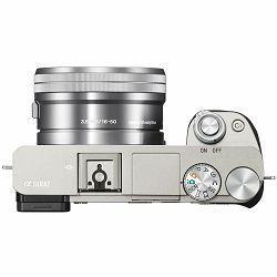 Sony Alpha a6000 + 16-50 f/3.5-5.6 KIT Silver Mirrorless Digital Camera srebreni bezrcalni digitalni fotoaparat i zoom objektiv SEL1650 16-50mm f3.5-5.6 ILCE-6000LS ILCE6000LS (ILCE6000LS.CEC)