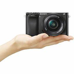 Sony Alpha a6000 + 16-50 f/3.5-5.6 KIT Black Mirrorless Digital Camera crni bezrcalni digitalni fotoaparat i standardni zoom objektiv SEL1650 16-50mm f3.5-5.6 ILCE-6000LB ILCE6000LB (ILCE6000LB.CEC)