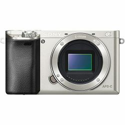 Sony Alpha a6000 Mirrorless Digital Camera Body Silver ILCE6000S.CEC
