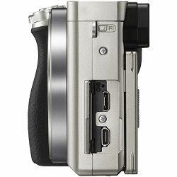 Sony Alpha a6000 Body Silver Mirrorless Digital Camera srebreni bezrcalni digitalni fotoaparat tijelo ILCE-6000S ILCE6000S (ILCE6000S.CEC)