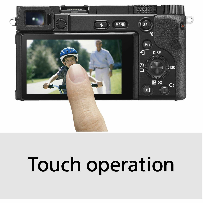 Sony Alpha a6100 + 16-50 f/3.5-5.6 OSS PZ KIT Black Mirrorless Digital Camera bezrcalni digitalni fotoaparat i standardni zoom objektiv SELP1650 16-50mm f3.5-5.6 ILCE-6100LB ILCE6100LB ILCE6100LB.CEC