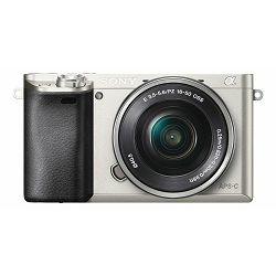 Sony Alpha a6100 + 16-50 f/3.5-5.6 OSS PZ KIT Silver Mirrorless Digital Camera bezrcalni digitalni fotoaparat i standardni zoom objektiv SELP1650 16-50mm f3.5-5.6 ILCE-6100LS ILCE6100LS ILCE6100LS.CEC