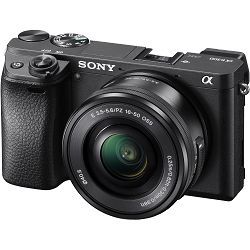 Sony Alpha a6300 + 16-50 f/3.5-5.6 KIT Black Mirrorless Digital Camera crni bezrcalni digitalni fotoaparat i standardni zoom objektiv SEL1650 16-50mm f3.5-5.6 ILCE-6300LB ILCE6300LB (ILCE6300LB.CEC)