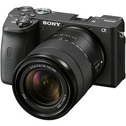 Sony Alpha a6600 + 18-135 f/3.5-5.6 OSS KIT Black Mirrorless Digital Camera crni bezrcalni digitalni fotoaparat i zoom objektiv SEL18135 18-135mm F3.5-5.6 ILCE-6600MB (ILCE6600MB.CEC)
