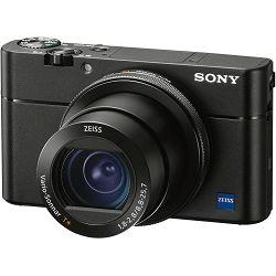 Sony Cyber-shot DSC-RX100 M5 VA Black crni Digitalni fotoaparat s integriranim objektivom Carl Zeiss Vario-Sonnar T* 8.8-25.7mm f/1.8-2.8 Digital Camera RX100 V RX-100 DSCRX100M5A (DSCRX100M5A.CE3)