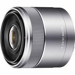 Sony E 30mm f/3.5 Macro 1:1 Silver Srebreni širokokutni objektiv za E-mount 30 F3.5 F3,5 3.5 SEL-30M35 SEL30M35 (SEL30M35.AE)