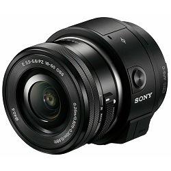 Sony QX1 16-50 3.5-5.6 PZ OSS Black SmartShot DSC-QX1 Kit 16-50mm crni ILCE-QX1LB WiFi NFC digitalni fotoaparat system kamera Mirrorless Lens-Style Digital Camera PlayMemories Mobile App