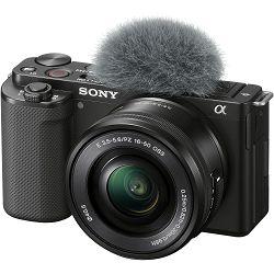 Sony ZV-E10 + 16-50mm f/3.5-5.6 OSS PZ kit Black Mirrorless bezrcalni fotoaparat s objektivom SELP1650 ZV-E10L ZVE10LBDI (ZVE10LBDI.EU)
