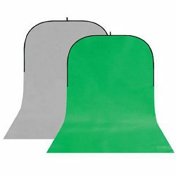 StudioKing BBT-03-10 Grey/Green 150x400cm sklopiva studijska foto pozadina u okviru foldable collapsible background board