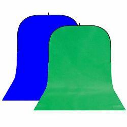 StudioKing BBT-10-07 Green/Blue 150x400cm sklopiva studijska foto pozadina u okviru foldable collapsible background board