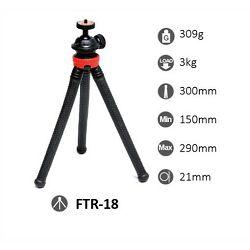 StudioKing FTR-18 29cm 3kg fleksibilni mini stolni stativ s držačem za mobitel Flexible Table Tripod with Smartphone Adapter (572596)