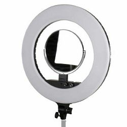 StudioKing LED Ring Lamp Set LED-480ASK on 230V kontinuirana kružna rasvjeta sa selfi zrcalom za make-up
