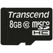 Memory ( flash cards ) TRANSCEND microSDHC Class 4 NAND Flash Micro SDHC 8192MB Class 4, Plastic, 1pcs with SDHC adapter