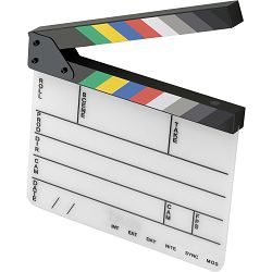 Universal studios klape za film Bijele magnetne velike Production Slate Color Clapboard Director Scene