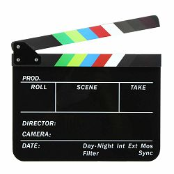 Universal studios klape za film Crne magnetne velike Production Slate Color Clapboard Director Scene