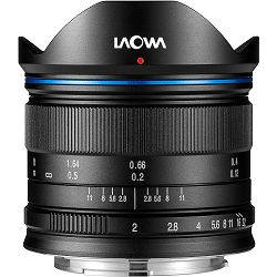 Venus Optics Laowa 7.5mm f/2 Lightweight Black crni ultra širokokutni objektiv za Olympus Panasonic MFT micro4/3