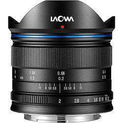 Venus Optics Laowa 7.5mm f/2 Standard Black crni ultra širokokutni objektiv za Olympus Panasonic MFT micro4/3