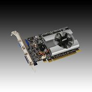 Video Card MSI GeForce 210 GDDR2 512MB/64bit, 589MHz/800MHz, PCI-E 2.0 x16,DVI,VGA, VGA Cooler, Retail